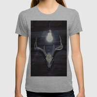 Late idea Womens Fitted Tee Athletic Grey SMALL