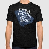 Library Mens Fitted Tee Tri-Black SMALL