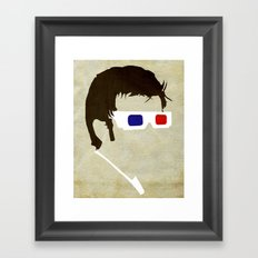 Minimalist Doctor Who  - The Tenth Doctor Framed Art Print