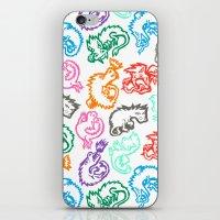 Crayon Love: Dragons iPhone & iPod Skin