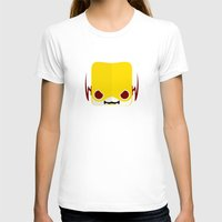 Marshmallow Reverse-Flash Womens Fitted Tee White SMALL