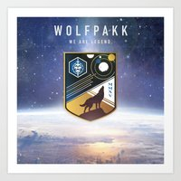 Destiny Wolfpakk Art Print