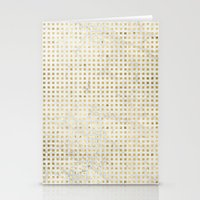 gOld squares Stationery Cards
