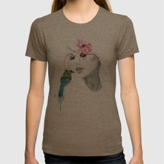 her secret*** Womens Fitted Tee Tri-Coffee SMALL