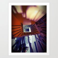 Spiral Stairs Art Print