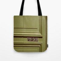 Green doorway  Tote Bag