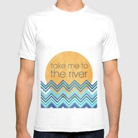Take Me To The River Mens Fitted Tee White SMALL