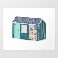 Little Log Cabin Art Print