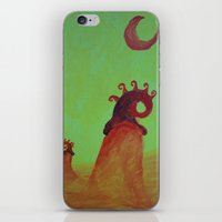Plants And Moon iPhone & iPod Skin