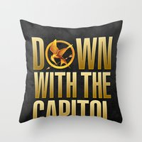 Hunger Games - Down With… Throw Pillow