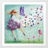 Butterfly Dance! Art Print