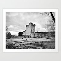 Ireland: Castle B&W Art Print