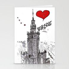 I love Warsaw  Stationery Cards