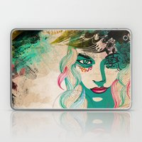 Floral Girl Illustration Laptop & iPad Skin