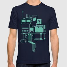Video Games Mens Fitted Tee Navy SMALL