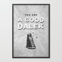 Doctor Who: A Good Dalek Canvas Print