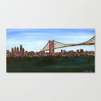 Ben Franklin Bridge Canvas Print