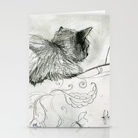 Fluffers On The Sofa Stationery Cards