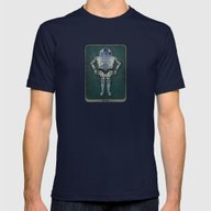 R2 3PO Mens Fitted Tee Navy SMALL