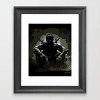 Call Of Duty Camo Framed Art Print