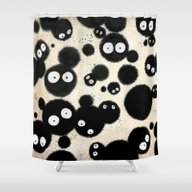 Cute Susuwatari Infestat… Shower Curtain