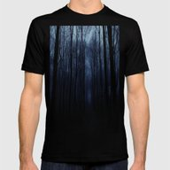 Deep Forest Mens Fitted Tee Black SMALL