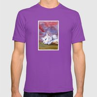 Tabitha at rest Mens Fitted Tee Ultraviolet SMALL