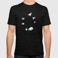 Take Off Mens Fitted Tee Tri-Black SMALL