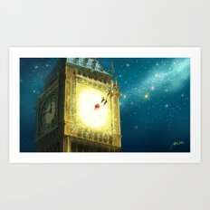 Big Ben Christmas  Art Print