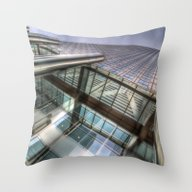 One Canada Square London Throw Pillow