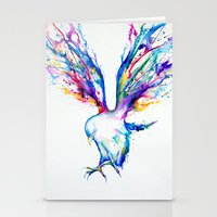 birds Stationery Cards featuring Achilles by Marc Allante