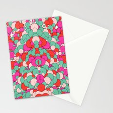 Chaotic Circles Pattern Stationery Cards