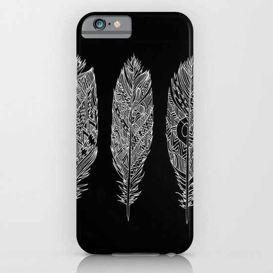 Patterned Plumes - White iPhone & iPod Case