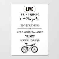 Life is like riding2 Canvas Print