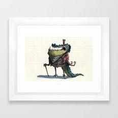 Fancy Crocodile Framed Art Print