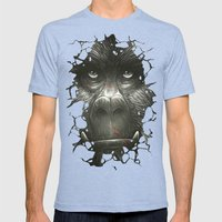 Kong Mens Fitted Tee Tri-Blue SMALL