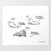The Seal Of Approval And… Art Print