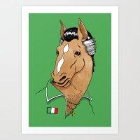 Italian Stallion Art Print
