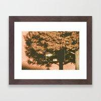 autumn tree, shadow Framed Art Print