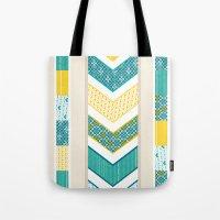 Sunshine Chevron Tote Bag