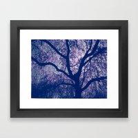 Cherry Blossom Blue Framed Art Print