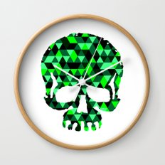 Triangle Camouflage Skull (WITHE) Wall Clock