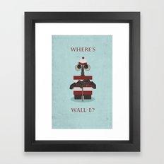 Where's Wall-e? Framed Art Print