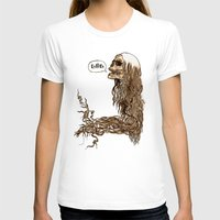 Laughing Skull Womens Fitted Tee White SMALL
