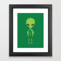 Green As A Little Green … Framed Art Print