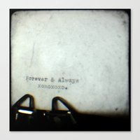 Forever and Always TTV Canvas Print