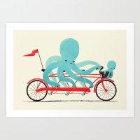 My Red Bike Art Print