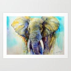 Gentle Giant_ Elephant A… Art Print