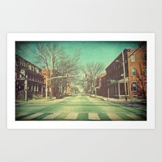 Let's Go Downtown Art Print