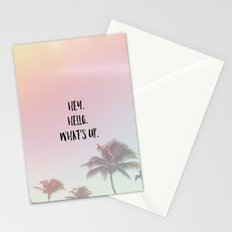 hey. hello. what's up. 2 Stationery Cards